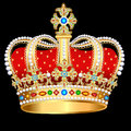 royal gold crown with precious stones and jewelry