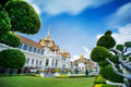 Royal grand palace in Bangkok. Royalty Free Stock Photo