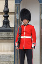 Royal guard at buckingham palace london uk circa june a is standing in front of Royalty Free Stock Photos