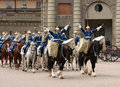 Royal Guard change, Stockholm Royalty Free Stock Images