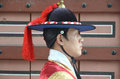 Royal guard changing seoul korea april participant at the deoksugung palace ceremony on april in seoul is a tradition similar to Stock Image