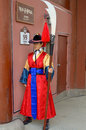 Royal guard changing seoul korea april participant at the deoksugung palace ceremony on april in seoul is a tradition similar to Royalty Free Stock Images