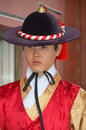 Royal guard changing seoul korea april participant at the deoksugung palace ceremony on april in seoul is a tradition similar to Royalty Free Stock Photography