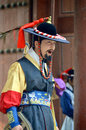 Royal guard changing seoul korea april participant at the deoksugung palace ceremony on april in seoul is a tradition similar to Royalty Free Stock Photos