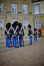 Royal guard in copenhagen denmark unidentified soldiers of the amalienborg castle by changing the guards denmark Stock Image