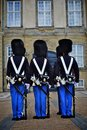 Royal guard in copenhagen denmark unidentified soldiers of the amalienborg castle by changing the guards denmark Stock Photography