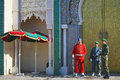 Royal guard in Rabat Royalty Free Stock Photo