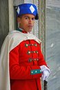 Royal guard in front of the mausoleum in Rabat. Royalty Free Stock Photo