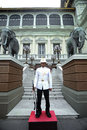Royal Guard at the Grand Palace, Bangkok Royalty Free Stock Photo
