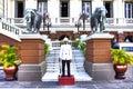 Royal guard at the grand palace in bangkok thailand Stock Photos