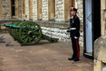Royal Guard. Tower of London. Royalty Free Stock Photo