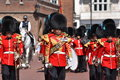 Royal guards band irish guards british from of the near st james s palace at change of the guard in london england Stock Photos