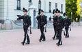 Royal Guards marching