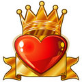 Royal heart Stock Photo