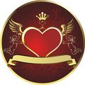 Royal heart Royalty Free Stock Images