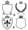 Royal Heraldic Crests or Emblems Royalty Free Stock Photo