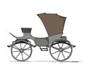 Royal horse carriage cartoon over white background Stock Photography