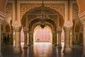 Royal interior in Jaipur palace, India Stock Photo