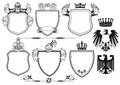 Royal knights set of icons Royalty Free Stock Photo