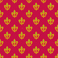 Royal lily pattern seamless with geometric texture Royalty Free Stock Photography