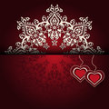 Royal luxury valentines day lace background for card Stock Image