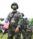 Royal Malaysian Army in the National Day Stock Photo