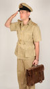Royal navy sailor wwii reconstruction of a period officer of the dressed for tropical service in the pacific theatre of operations Royalty Free Stock Photography