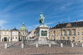 Royal palace amalienborg cathedral and monument denmark Royalty Free Stock Images