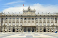 Royal palace av madrid spanien Arkivfoton