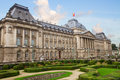 The royal palace of brussels with garden belgium Stock Photos