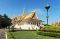 Royal palace cambodian in phom penh Stock Image