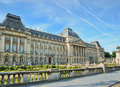The royal palace in center of brussels belgium Royalty Free Stock Image