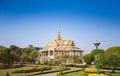 Royal palace em phnom penh Fotografia de Stock Royalty Free