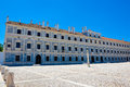 Royal Palace Facade, Gray Marble Ducal House, Travel Portugal Royalty Free Stock Photo