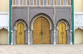 Royal palace in fes entrance of the morocco Royalty Free Stock Photography