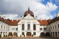 The royal palace of gödöllő is imperial and located in municipality in pest county central Royalty Free Stock Photos