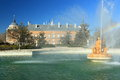 Royal palace garden fountain aranjuez spain Royalty Free Stock Images