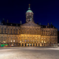 Royal Palace, grand dos de barrage, Amsterdam, Hollandes Photographie stock libre de droits