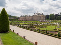 Royal palace het loo in the netherlands apeldoorn june view on with visitors gardens on june which houses a museum was built Royalty Free Stock Photography