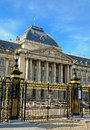 Royal palace in historical center of brussels the king belgium Royalty Free Stock Photography