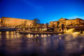 Royal palace and house of parliament in stockholm the swedish ofr by night high definition range photo hdr Stock Photos