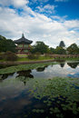 Royal Palace Island Pavilion Pond Royalty Free Stock Image