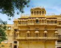 Royal palace jaisalmer fort rajasthan india Stock Photo