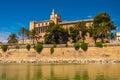 Royal Palace of La Almudaina, Palma de Mallorca Royalty Free Stock Photo