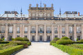 Royal palace of la granja de san ildefonso in segovia spain facade the Royalty Free Stock Image