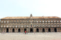 The royal palace of naples is located in central naples at the city s main square piazza del plebiscito it was one of the four Royalty Free Stock Photography