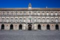 Royal palace of naples and plebiscito square in italy Stock Photo