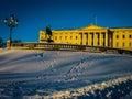 Royal Palace, Oslo Royalty Free Stock Photo