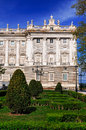 Royal palace palacio real madrid spain Royalty Free Stock Image