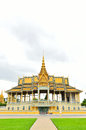 The royal palace park phnom penh cambodia Royalty Free Stock Photo